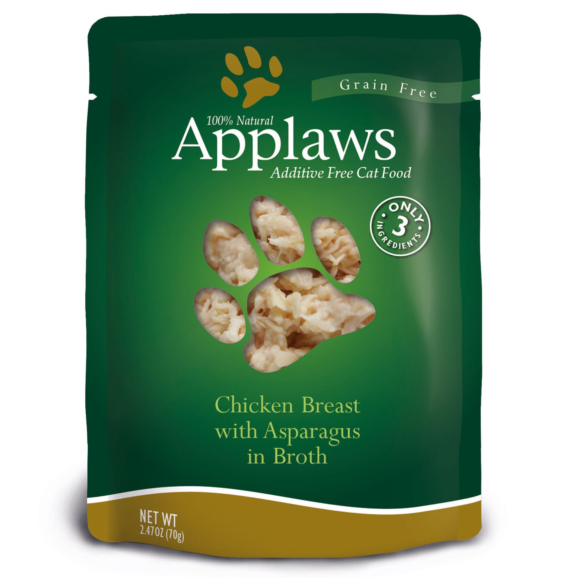 Applaws Chicken Breast with Asparagus in Broth Pouch Grain Free Cat Food