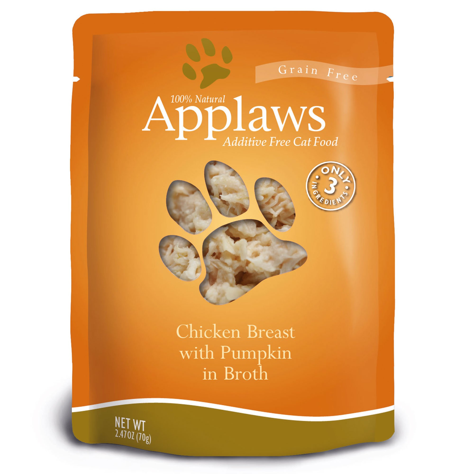 Applaws Chicken Breast with Pumpkin in Broth Pouch Grain Free Cat Food