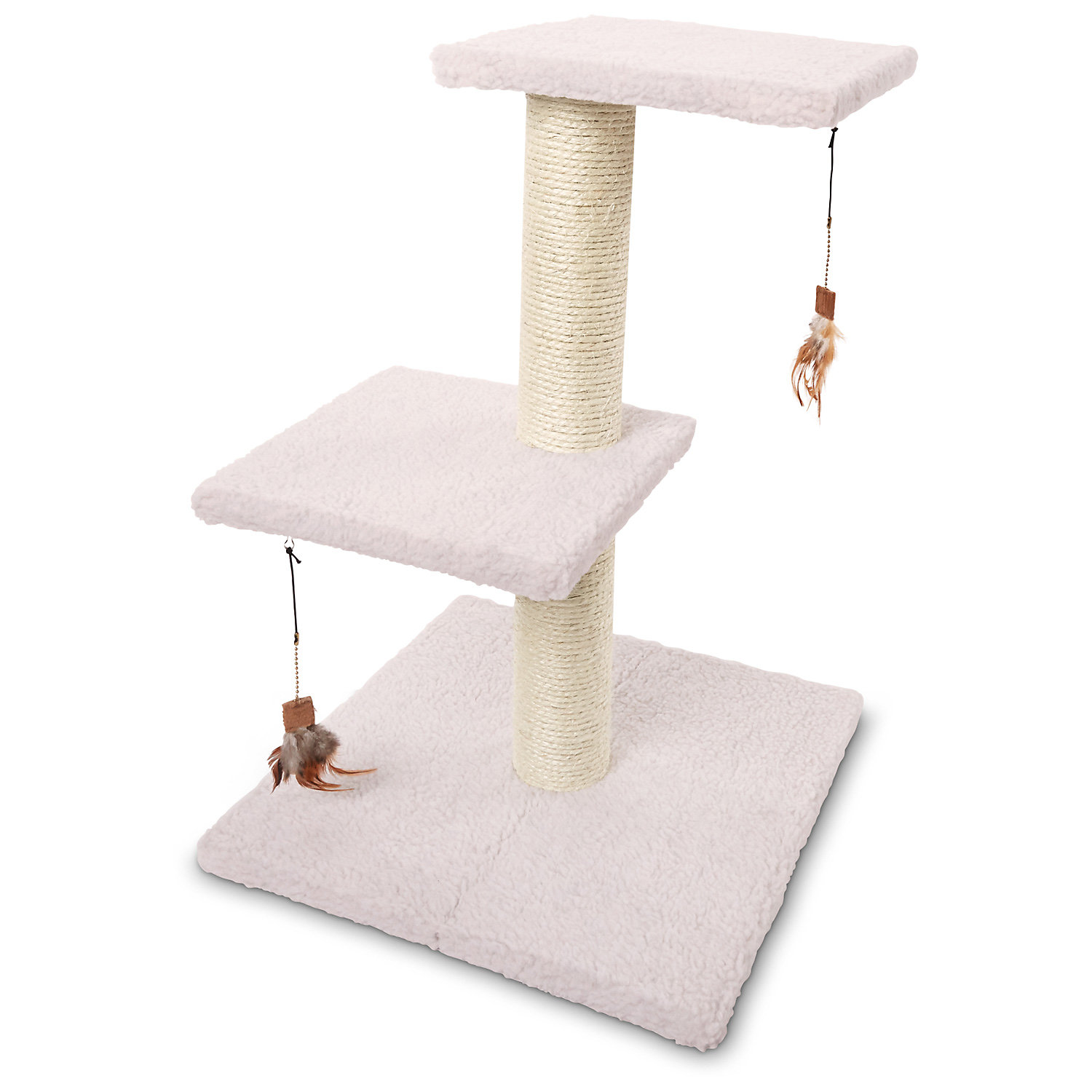 Pure Bliss Two Level Cat Tree 17.7 W X 17.7 D X 26 H White