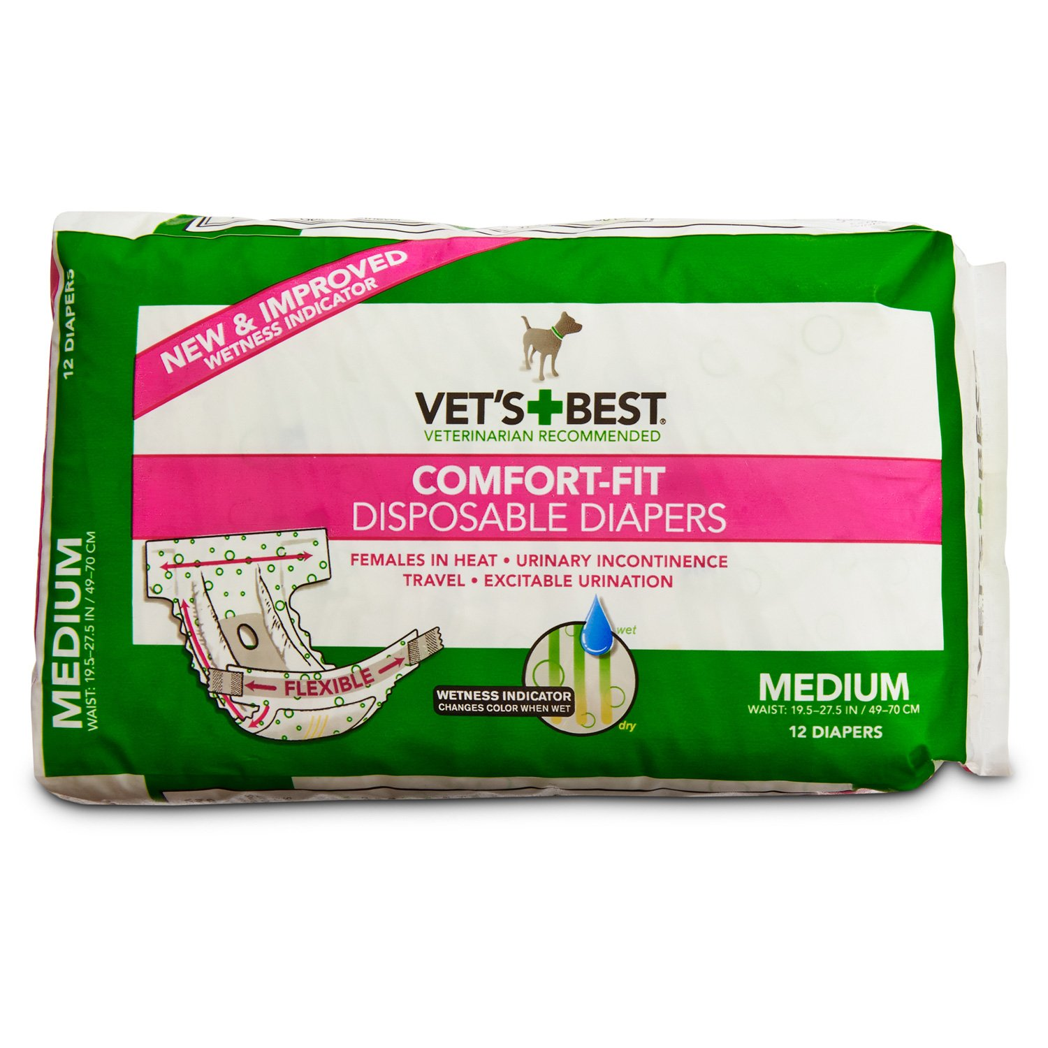 Vet's Best Comfort Fit Disposable Dog Diapers