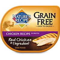 Nature's Recipe Grain Free Chicken in Broth Adult Dog Food Tray