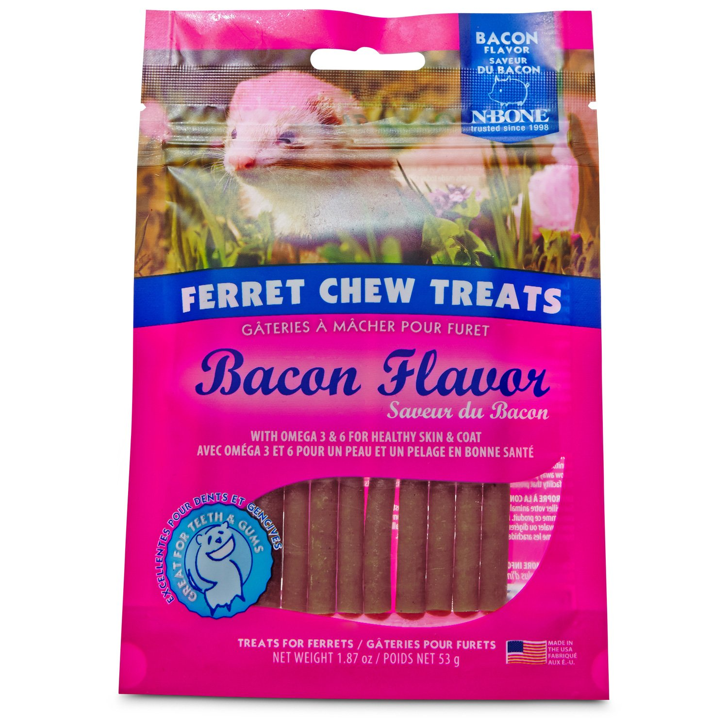 N-Bone Ferret Bacon Chew Treats