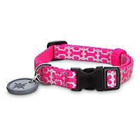 Good2Go Reflective Pink Bone Comfort Dog Collar