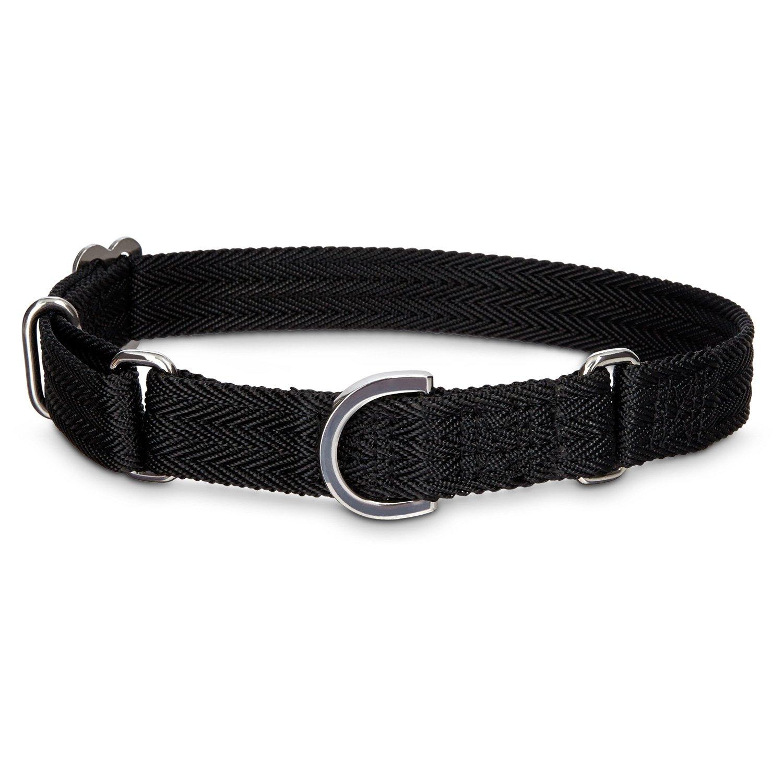 Black Martingale Dog Collar