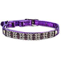 Good2Go Purple Rhinestone Adjustable Cat Collar