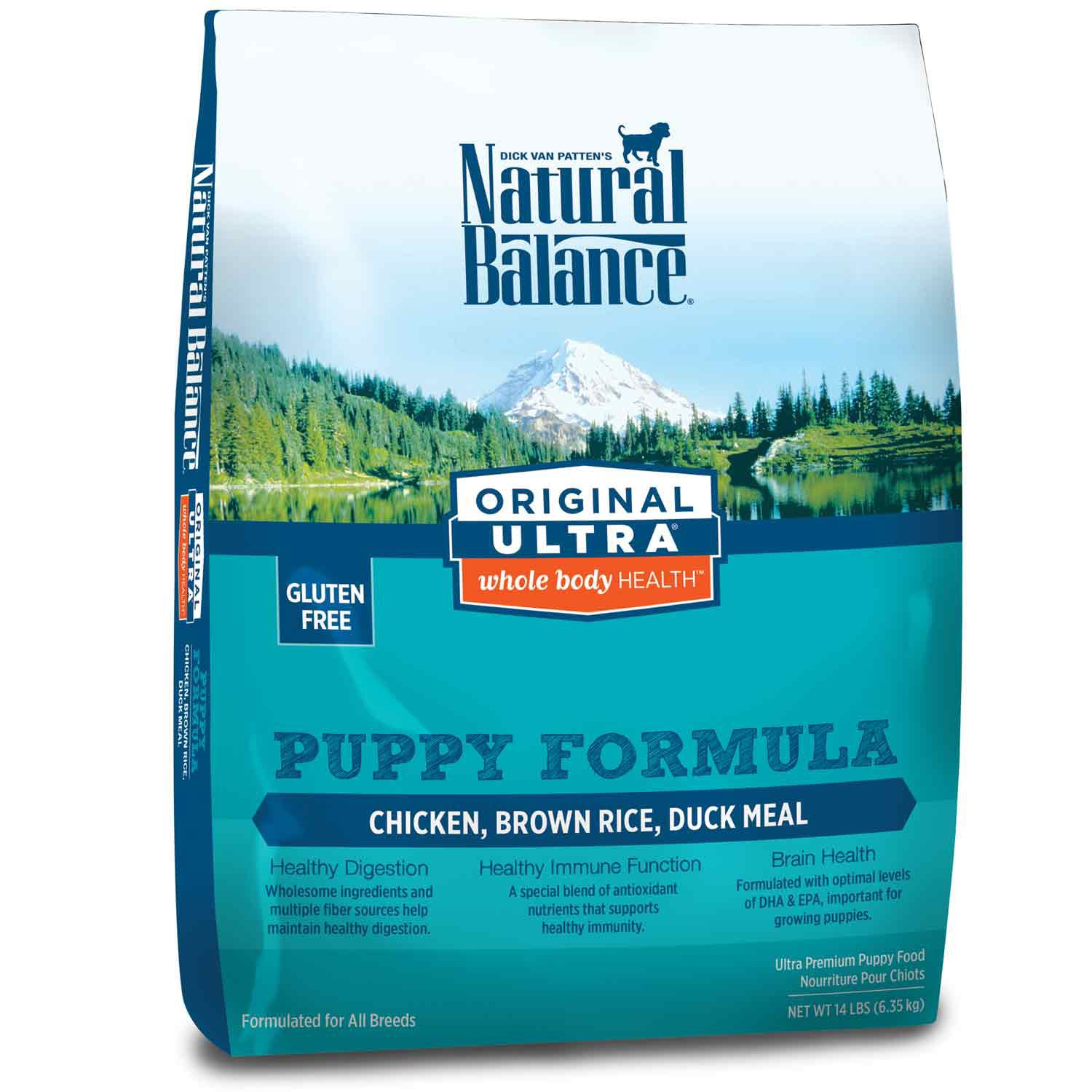 Natural Balance Original Ultra Whole Body Health Chicken Brown Rice & Duck Meal Puppy Food