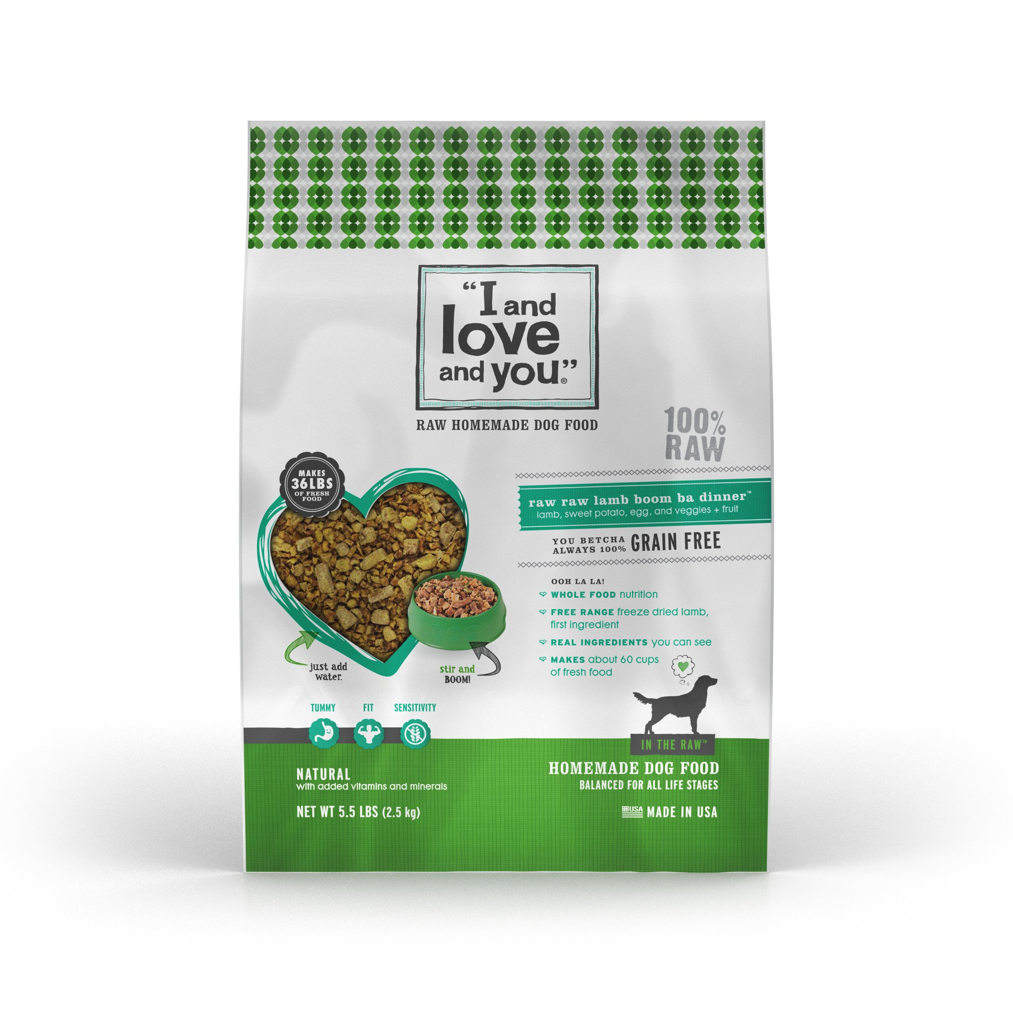 I and Love and You In the Raw Lamb Dehydrated Dog Food