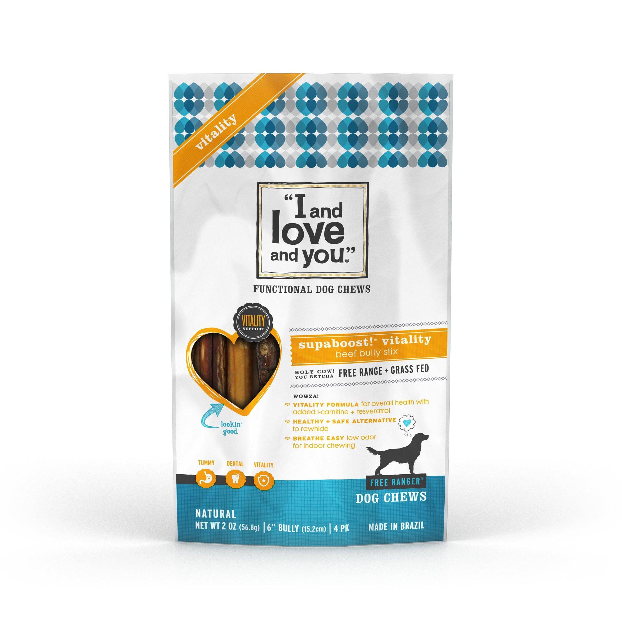 I and Love and You Vitality Stix 4pk Bully Sticks Dog Treat