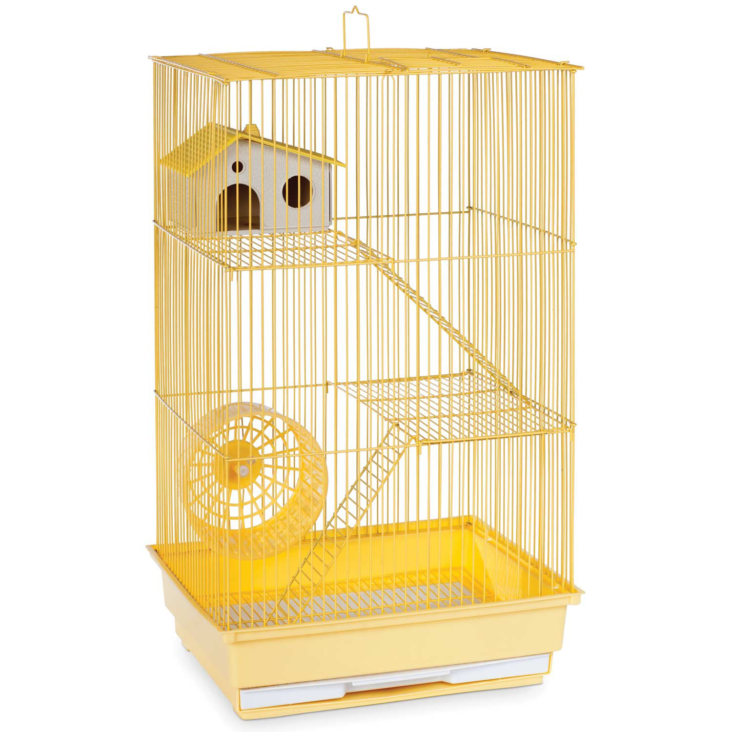 Prevue Hendryx Three Story Yellow Small Animal Cage
