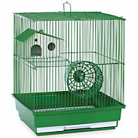 Prevue Hendryx Two Story Green Small Animal Cage