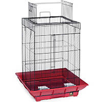 Prevue Hendryx Clean Life Series Playtop Bird Cage in Red & Black