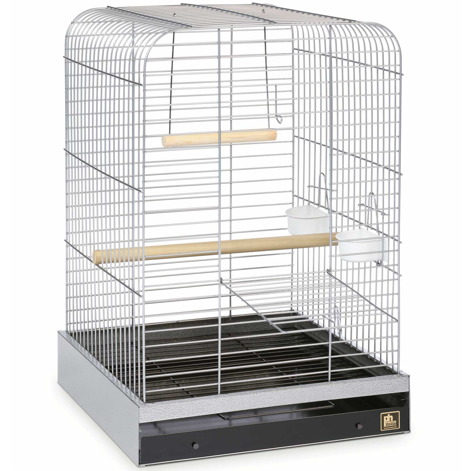 Prevue Hendryx Parrot Cage in Chrome