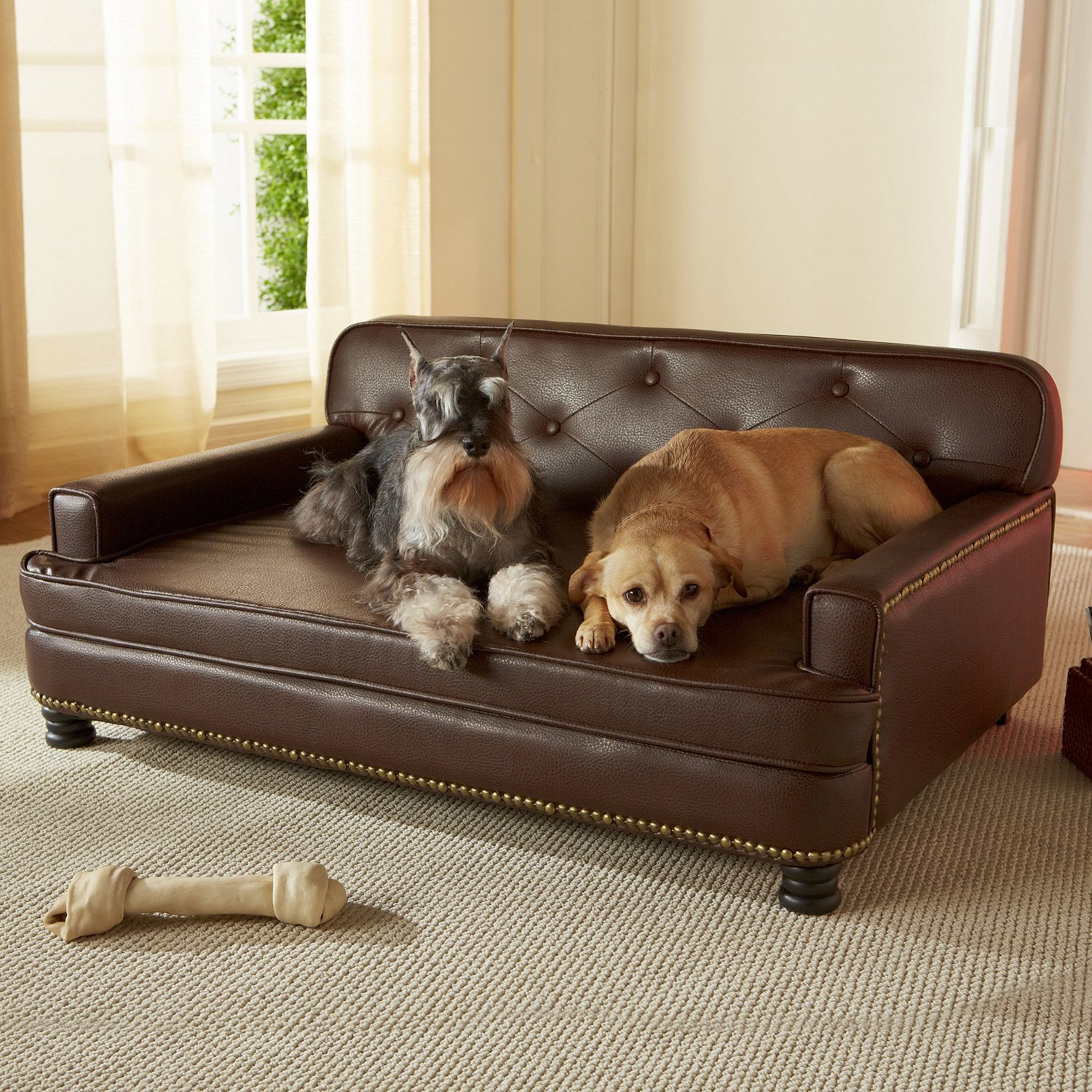 Enchanted Home Pet Library Sofa Dog Bed in Brown