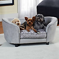 Enchanted Home Pet Quicksilver Sofa Dog Bed in Gray