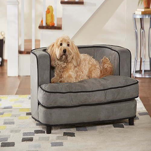 Grey Dog Bed Sofa : Enchanted home pet cliff sofa dog bed in gray petco