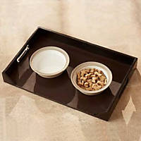 Enchanted Home Pet Feeding Tray in Brown