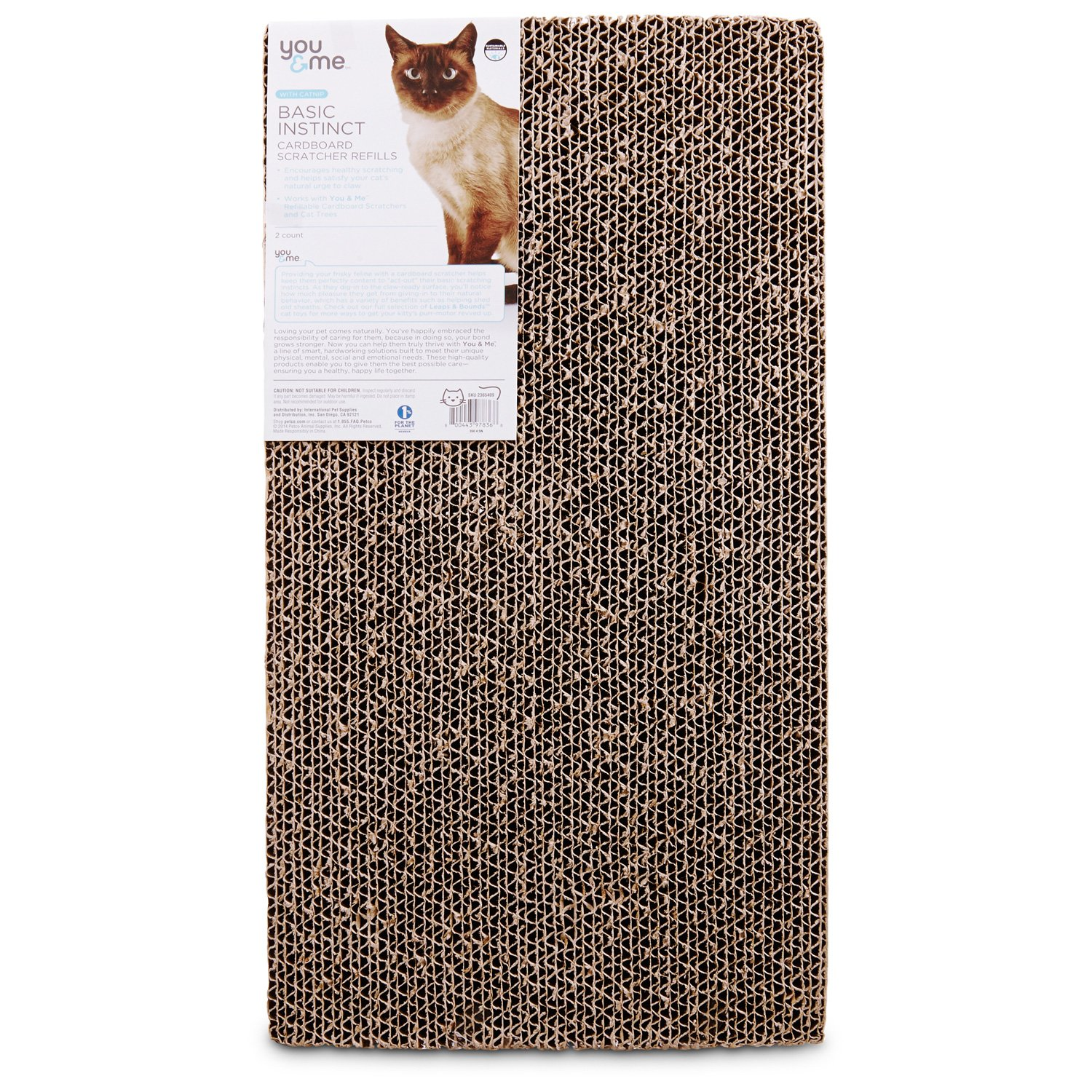 You & Me Double Wide Cardboard Cat Scratcher Refills