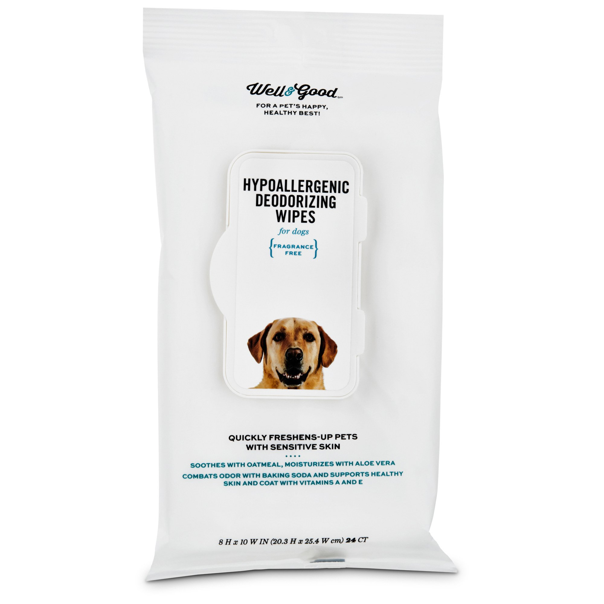 Well & Good Hypoallergenic Deodorizing Dog Wipes