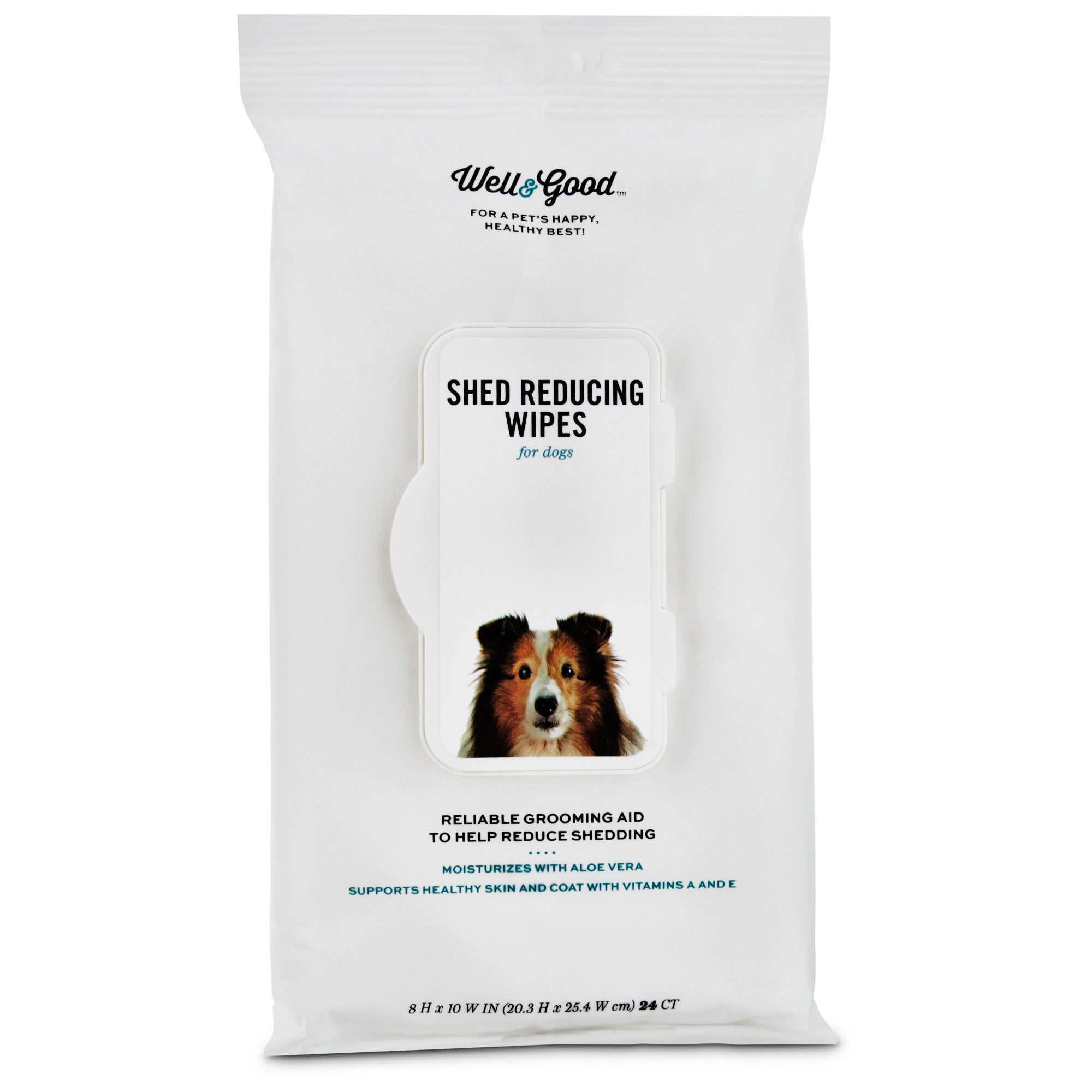 Well & Good Shed Reducing Dog Wipes