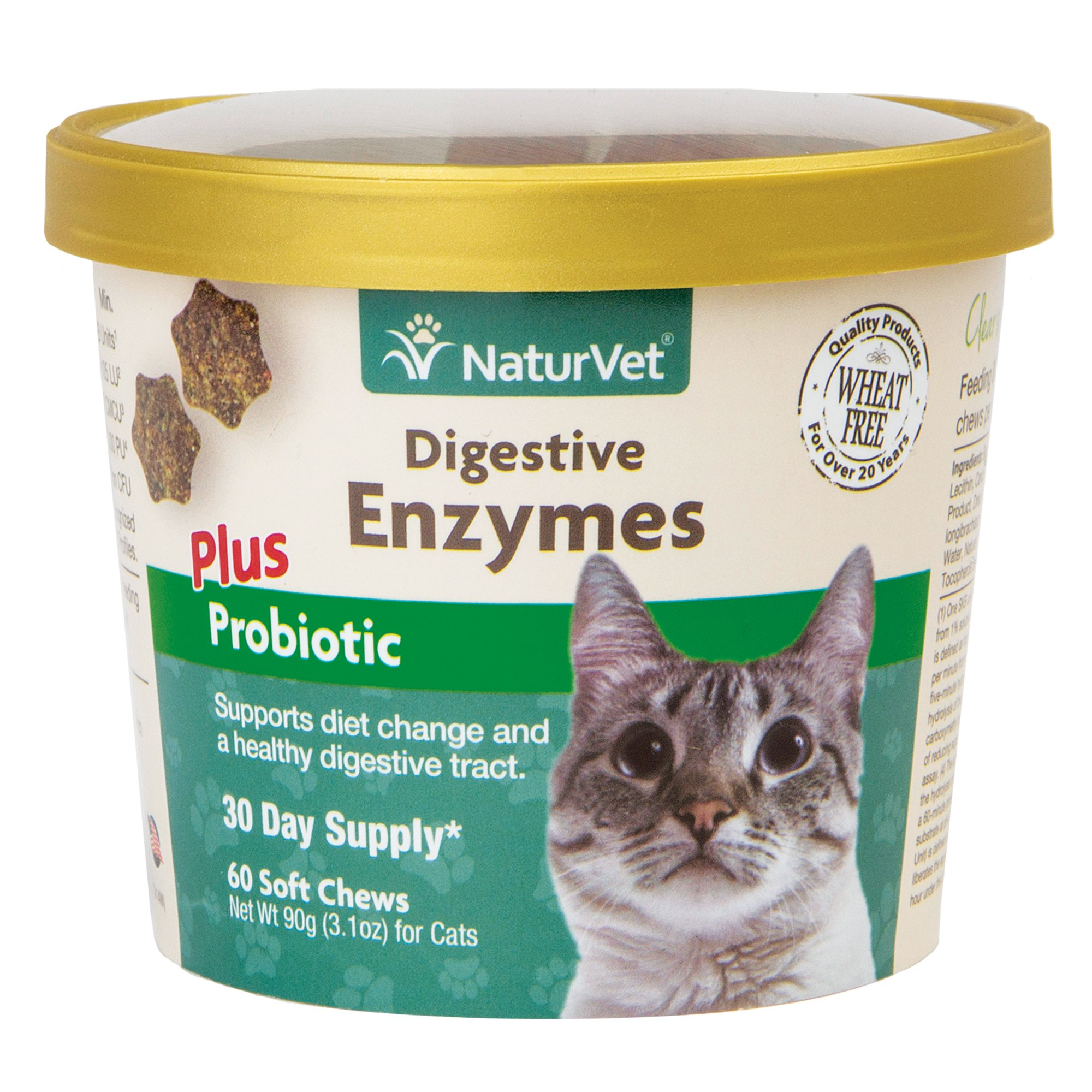 NaturVet Digestive Enzymes Cat Supplement