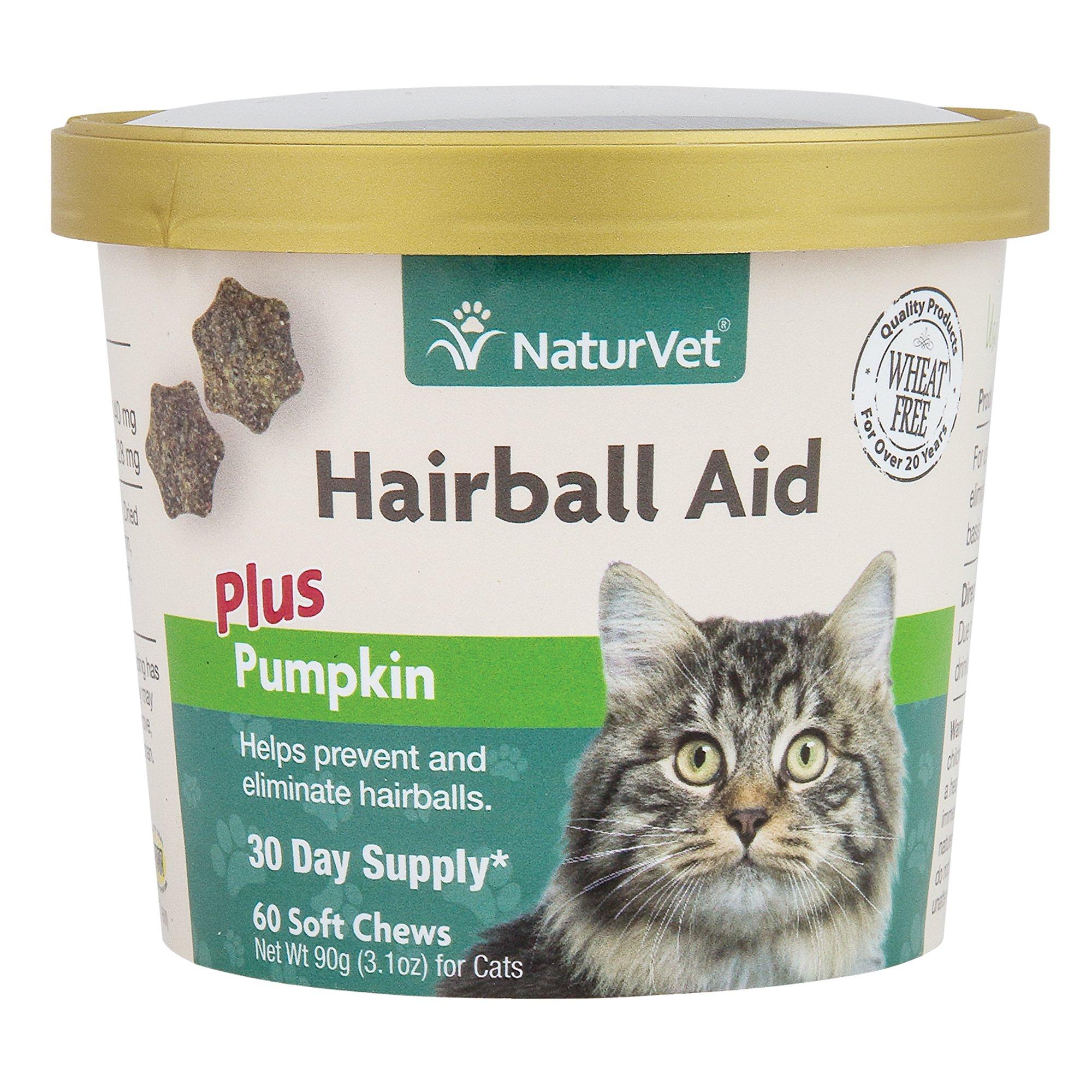 NaturVet Cat Hairball Aid Supplement