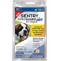 Sentry FIPROGUARD PLUS for Dogs & Puppies 89-132 lbs. Topical Flea & Tick Treatment