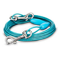You & Me Blue Small Free to Flex Dog Tie-Out Cable