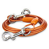 You & Me Orange Medium Free to Flex Dog Tie-Out Cable