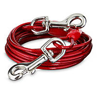 You & Me Red Large Free to Flex Dog Tie-Out Cable