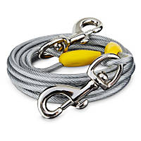 You & Me Gray X-Large Free to Flex Dog Tie-Out Cable