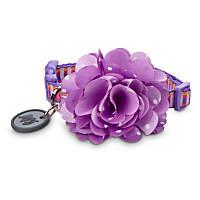 Good2Go Flower Dog Collar in Purple Polka Dot