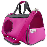 Good2Go Ultimate Pet Carrier in Gray & Pink