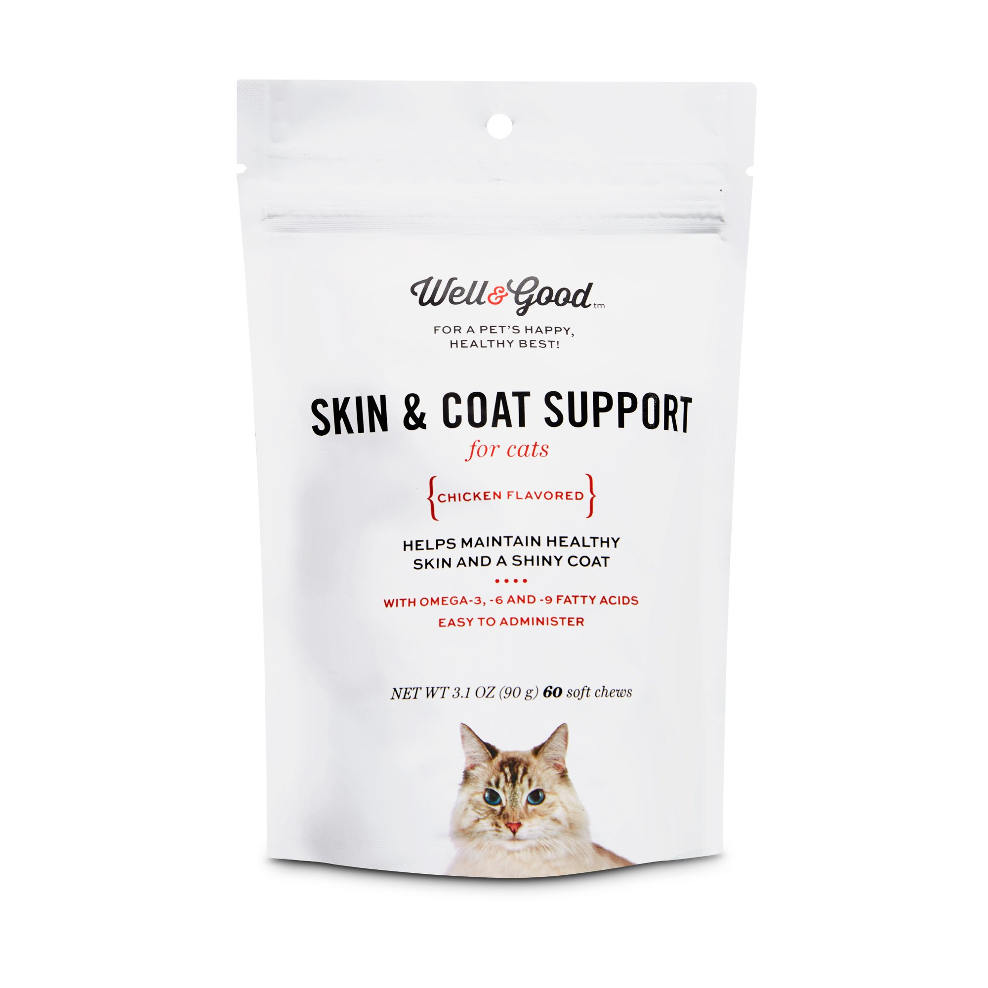 Well & Good Skin & Coat Support Cat Chews