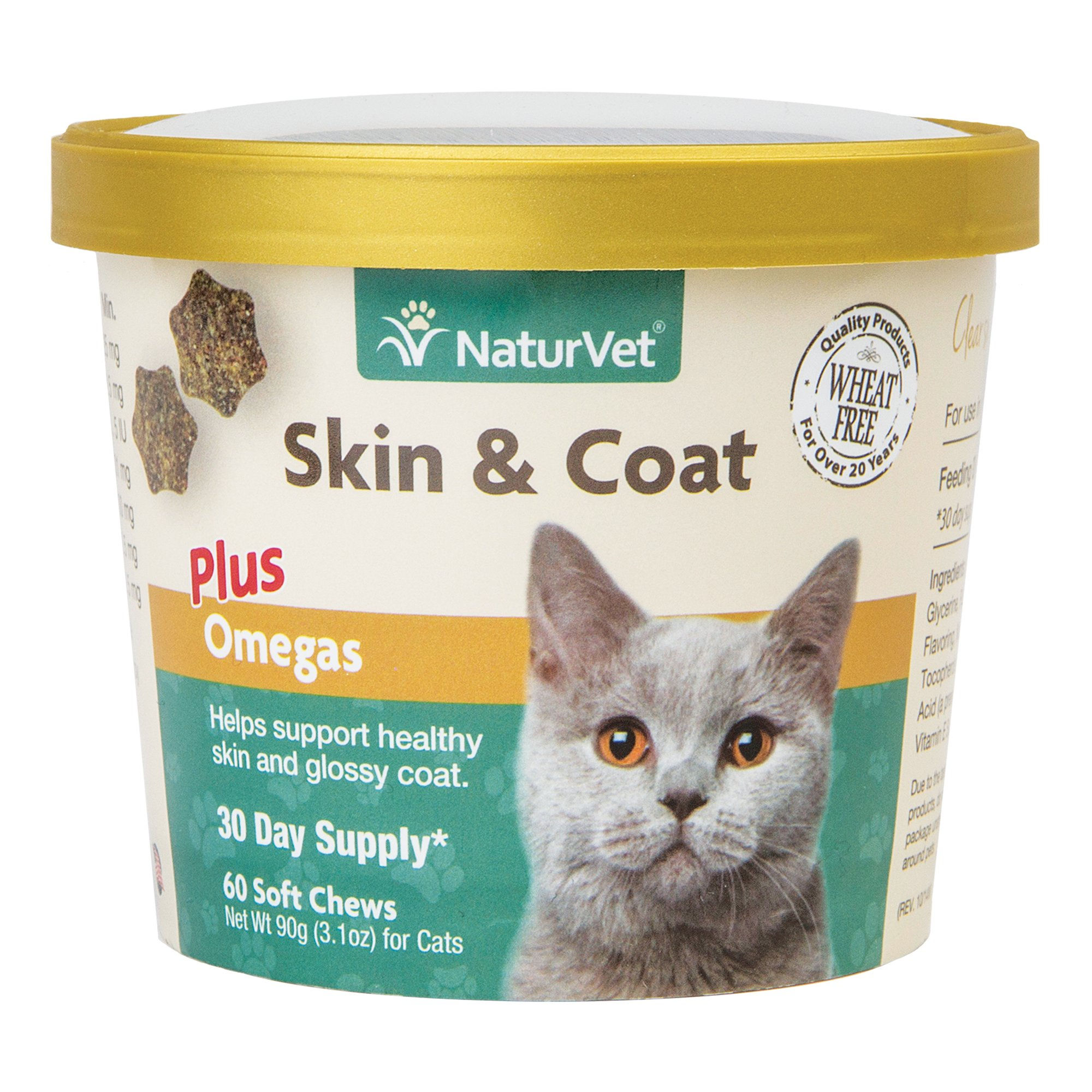 NaturVet Skin & Coat Cat Supplement