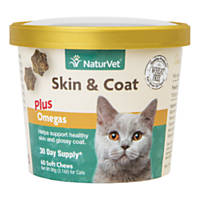 NaturVet Skin & Coat Cat Supplement
