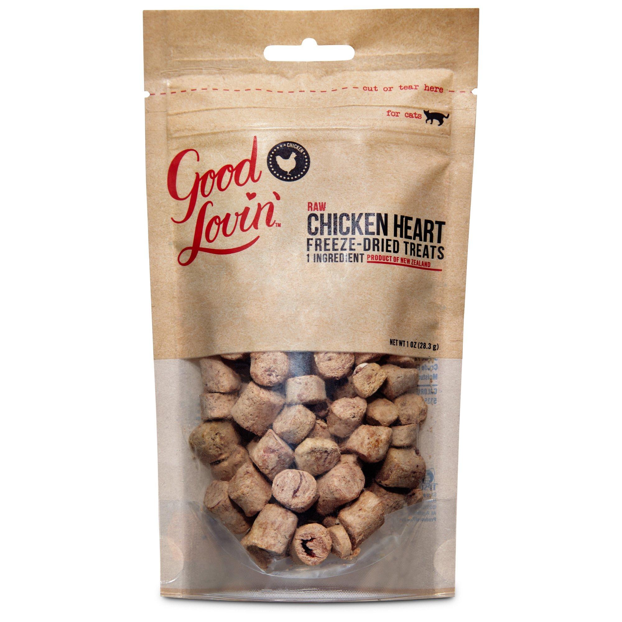 Good Lovin' Raw Freeze Dried Chicken Hearts Cat Treats