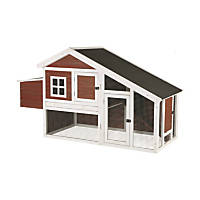 Trixie Natura Peak Roof Brown Chicken Coop with Outdoor Run