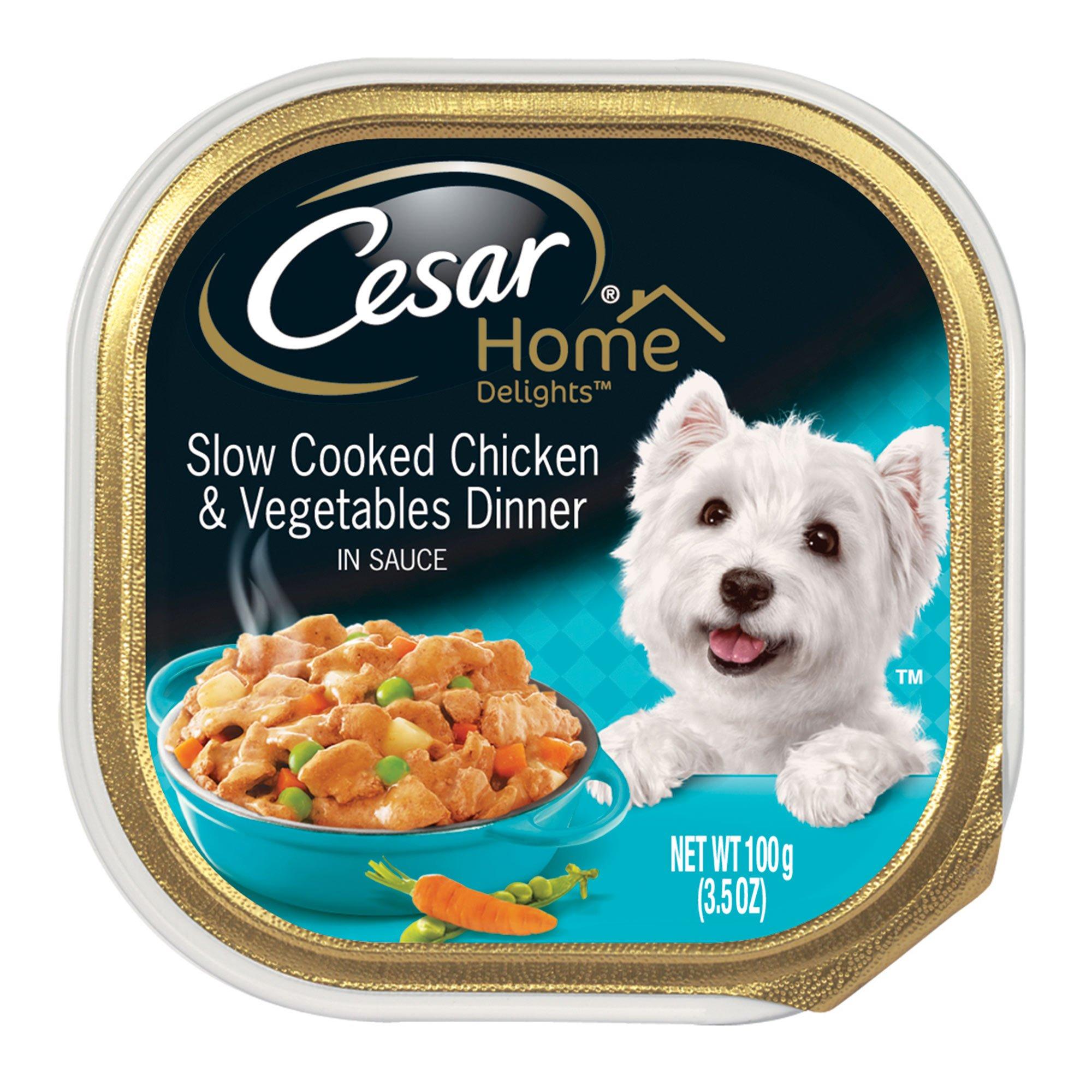 Cesar Delights Chicken And Vegetables Dog Food