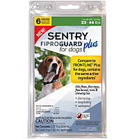 Sentry FIPROGUARD PLUS for Dogs & Puppies 23-44 lbs. Topical Flea & Tick Treatment