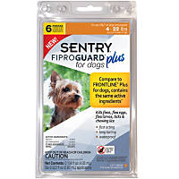 Sentry FIPROGUARD PLUS for Dogs & Puppies 4-22 lbs. Topical Flea & Tick Treatment