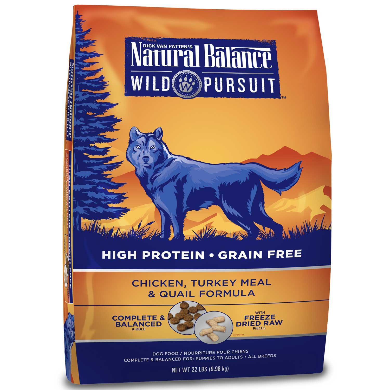 Natural Balance Wild Pursuit Chicken, Turkey & Quail Dog Food