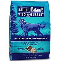 Natural Balance Wild Pursuit Trout, Salmon & Tuna Dog Food