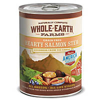 Whole Earth Farms Grain Free Hearty Salmon Stew Canned Dog Food