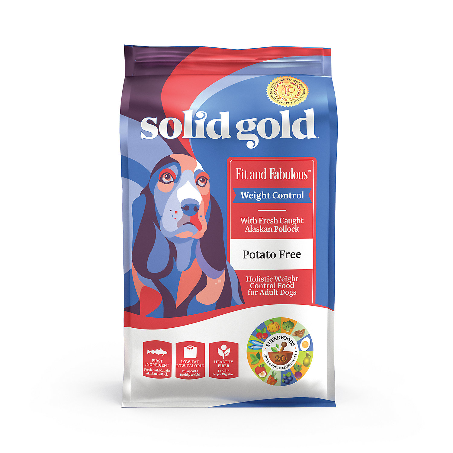 Solid Gold Fit and Fabulous Holistic Dry Dog Food, Alaskan P