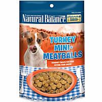 Natural Balance Delectable Delights Turkey Mini Meatballs Dog Treats