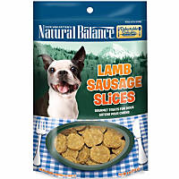 Natural Balance Delectable Delights Lamb Sausage Slices Dog Treats