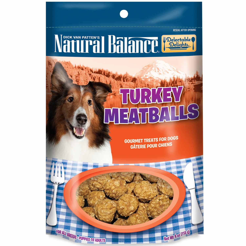 Natural Balance Delectable Delights Turkey Meatballs Dog Treats