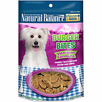 Natural Balance Delectable Delights Venison Burger Bites Dog Treats