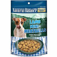 Natural Balance Delectable Delights Lamb Mini Meatballs Dog Treats