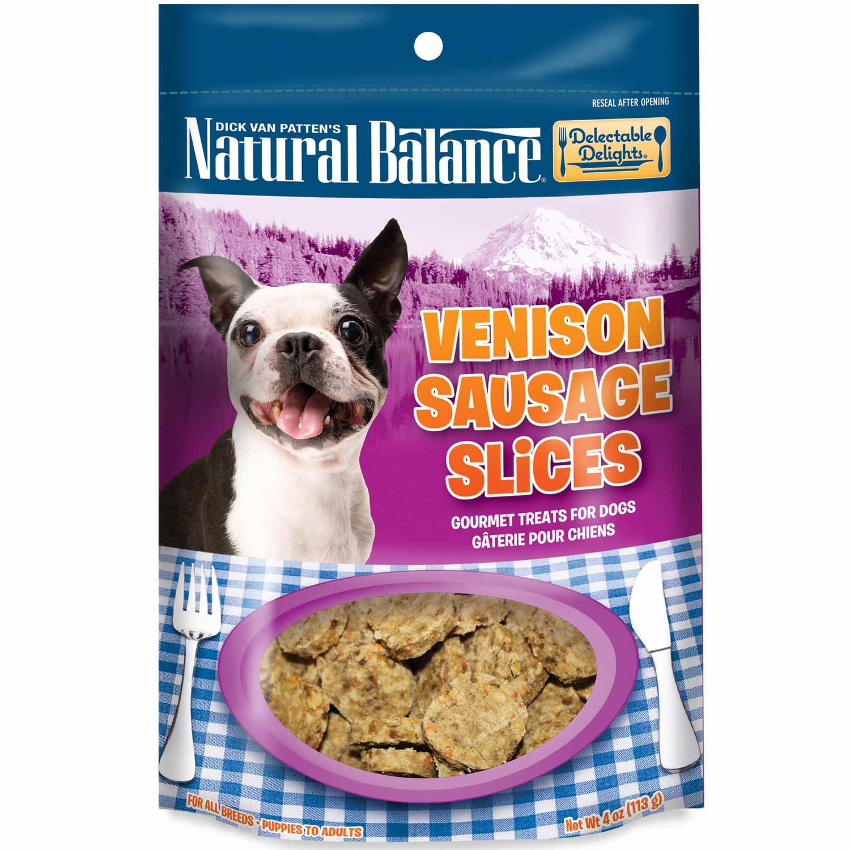 Natural Balance Delectable Delights Venison Sausage Slices Dog Treats